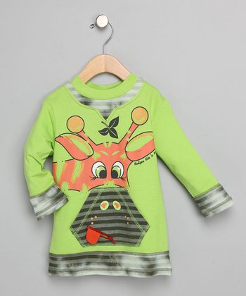 Giraffe Zip-Mouth Long-Sleeve Top - Toddler