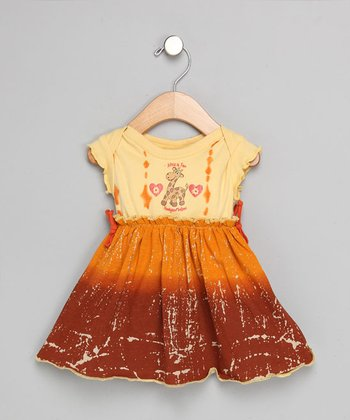 African Adventures - Giraffe Dipdye Dress