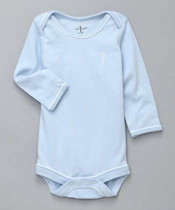 Blue Ankh Egyptian Cotton Long-Sleeve Bodysuit - Infant
