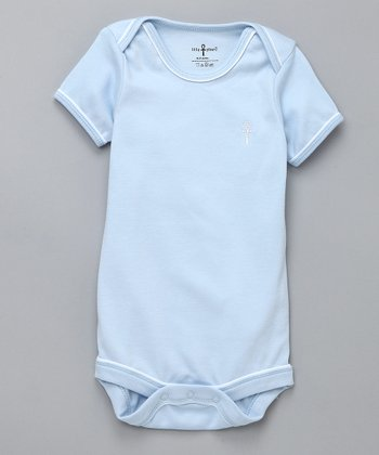 Blue Ankh Egyptian Cotton Short-Sleeve Bodysuit - Infant