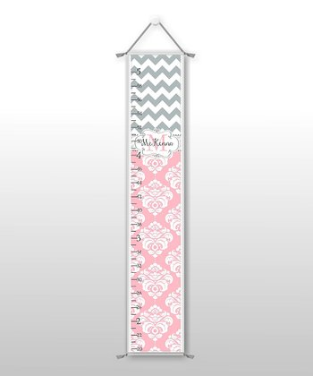 Zigzag & Damask Personalized Growth Chart