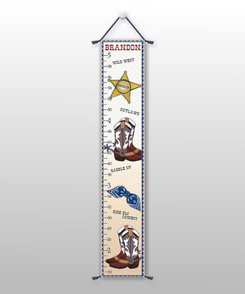 Cowboy Personalized Growth Chart