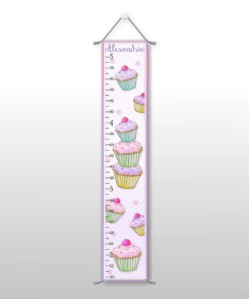 Cupcake Personalized Growth Chart