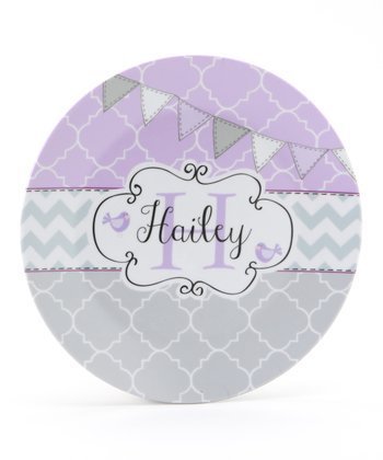 Lavender Flag Personalized Plate
