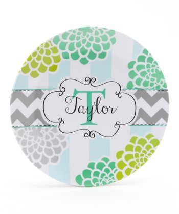 Teal & Lime Mum Personalized Plate