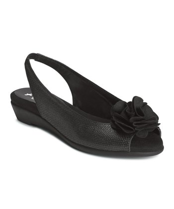 Black Weave Atmosphere Slingback