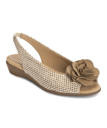 Light Tan Weave Atmosphere Slingback