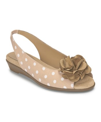 Tan Dot Atmosphere Slingback