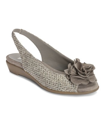 Gray Weave Atmosphere Slingback