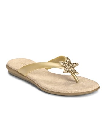 Soft Gold Beach Chlub Flip-Flop