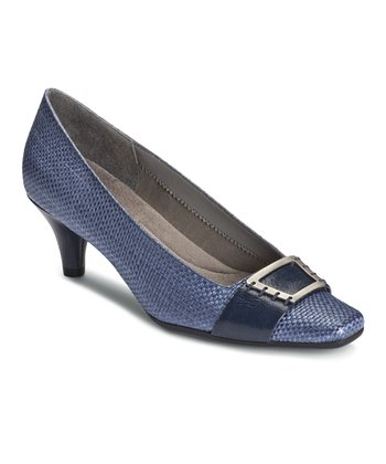 Blue Weave Cheerystem Pump