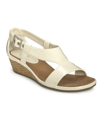 White Croco Crown Chewls Wedge