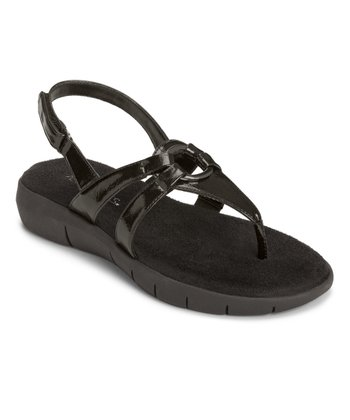 Black Patent Swipt Away Sandal