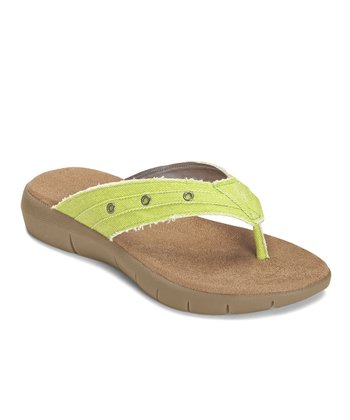 Green Wiptown Thong Sandal
