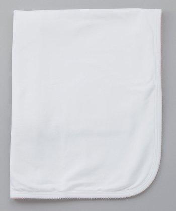 Sweet Cottons White Stroller Blanket