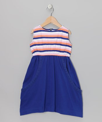 Navy Stripe Slouchy Pocket Dress - Toddler & Girls
