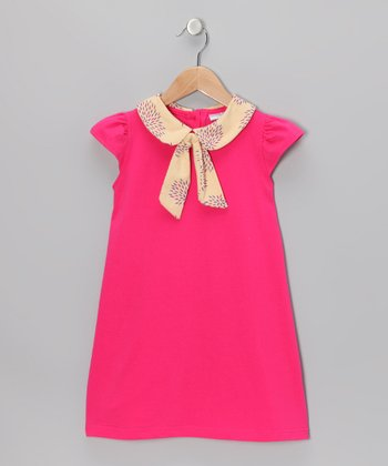 Pink & Yellow Floral Sailor Dress - Toddler & Girls