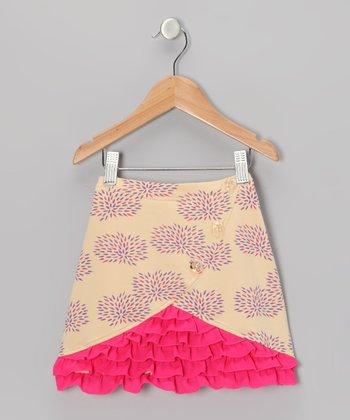 Yellow Floral Ruffle Skirt - Toddler & Girls