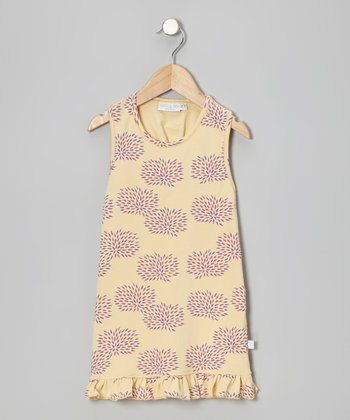 Yellow Floral Shift Dress - Toddler & Girls