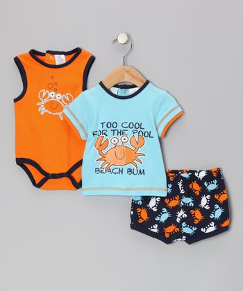 Orange Crab Bodysuit Set - Infant