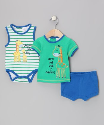 Green Giraffe Bodysuit Set