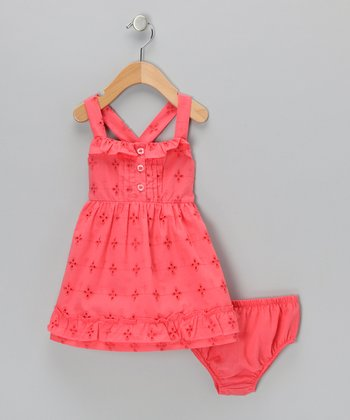 Coral Sundress & Diaper Cover - Toddler