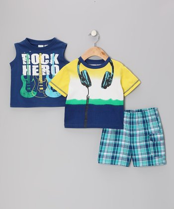 Blue Headphones Tee Set - Infant & Toddler