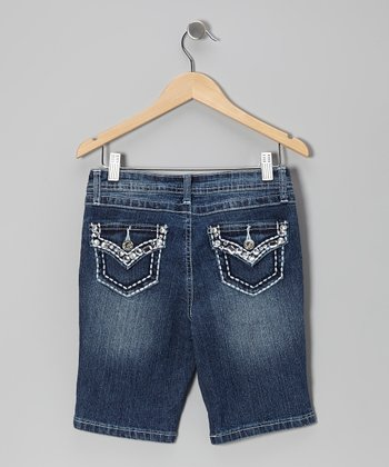 Medium Wash Royal Flap Pocket Bermuda Shorts