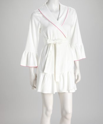 White Rose Baby Terry Robe