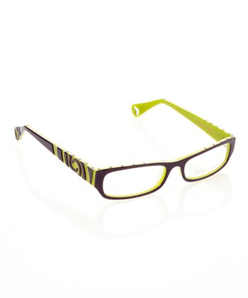 Violet Punk Rock Eyeglasses