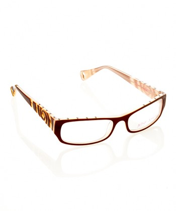 Betsey Johnson Espresso Punk Rock Eyeglasses
