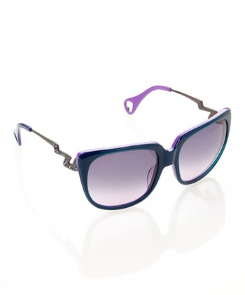Teal & Purple Thunderstruck Sunglasses