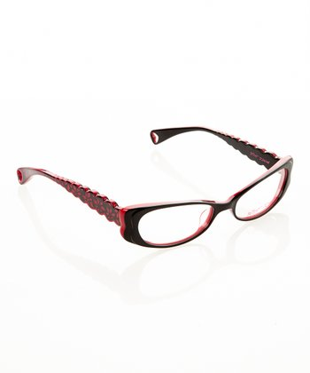 Betsey Johnson Raven Harajuku Flower Eyeglasses