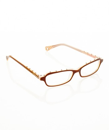 Betsey Johnson Espresso Itsy Bitsy Hard Rock 2 Eyeglasses