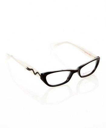 Betsey Johnson Raven & White Itsy Bitsy Sweetie Pie 2 Eyeglasses