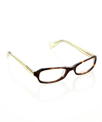 Betsey Johnson Espresso Gingham Girl Eyeglasses