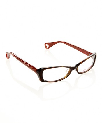 Betsey Johnson Espresso Brilliance Eyeglasses
