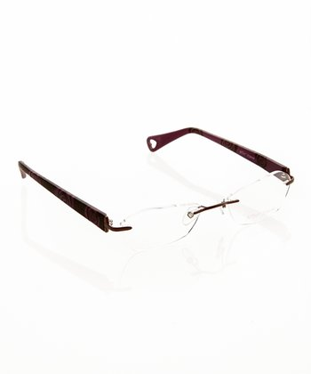 Betsey Johnson Bronze Petal Pusher Eyeglasses