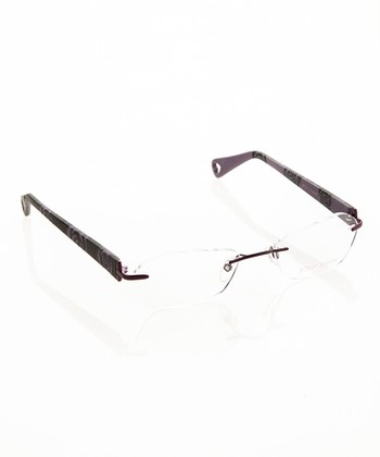 Betsey Johnson Violet Petal Pusher Eyeglasses
