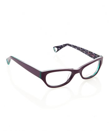 Betsey Johnson Violet Jungle Queen Eyeglasses