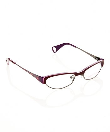 Betsey Johnson Burgundy Cutie Pie Eyeglasses