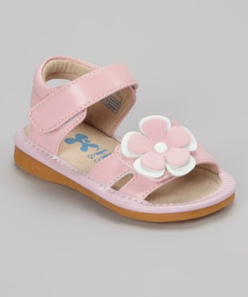 Light Pink & White Flower Squeaker Sandal