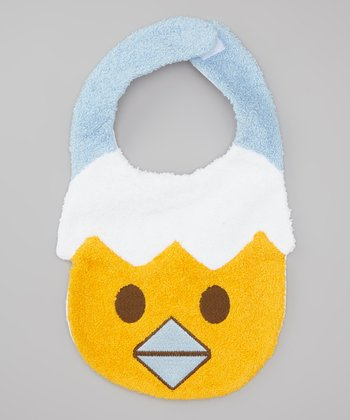 Blue Hatching Chick Bib