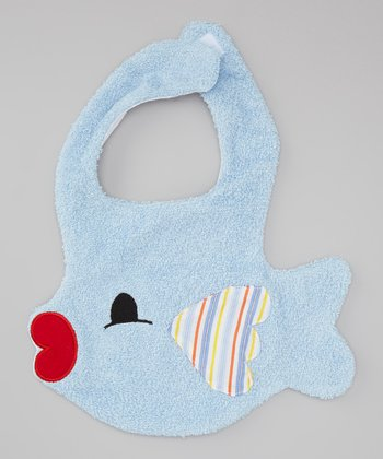 Blue Fish Kiss Bib