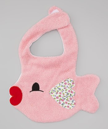 Pink Fish Kiss Bib