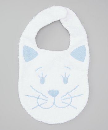 Blue Kitty Bib