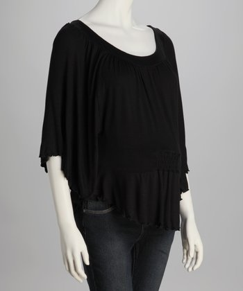 Black Dolman Maternity Top