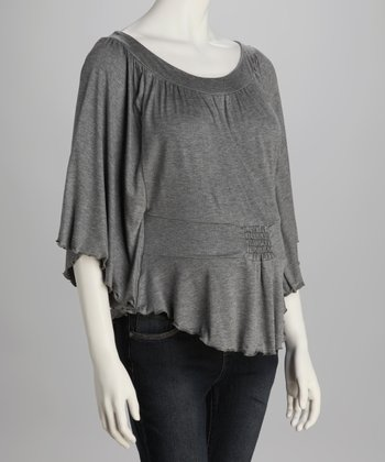 Charcoal Dolman Maternity Top