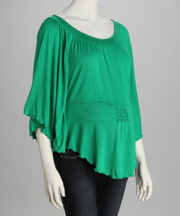 Green Dolman Maternity Top