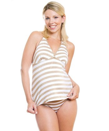 Gold Marrakech Maternity Tankini